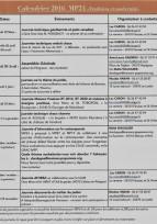 Dordogne  calendrier des activités 2016